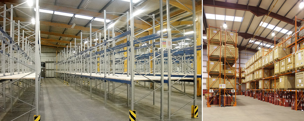 Wide aisle pallet racking, Axis Solutions
