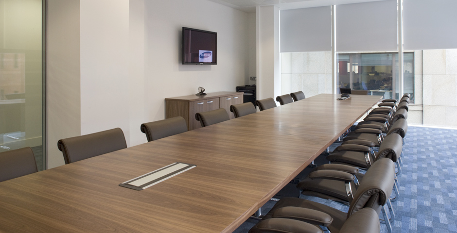 Boardroom design and install with Axis Solutions